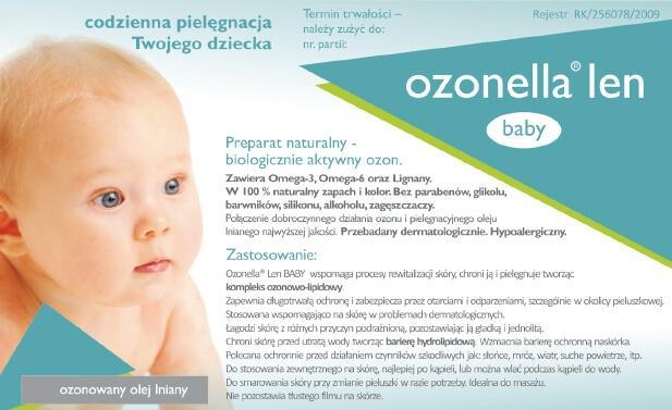 Ozonowany olej lniany dla dzieci